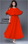 Imported georgette cold shoulder Dress With Pouncho Style Red Free Size (Valentine Special)