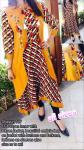 Slub Rayon Inner with Rayon Jacket Yellow & Red Holi Special Kurti Shagun 127 Size- M