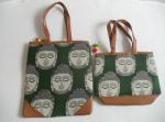 Kalamkari Bags Green Combo Pack of Two