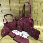 Top Quality Bags Synthetic Material 7 Pcs Combo Maroon.