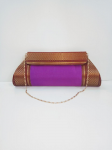 Pure Silk Party Clutch Purse Violet