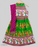 Navratri Special Kids Cotton Lehanga Choli Special S-538318 Age Group (6 - 12 Months)