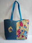 Designer Jute Bag Sky Blue