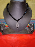 Charming Black Beads Mala With Beautiful Silver...