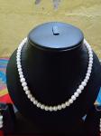 Charming White Moti (Pearl) Mala.