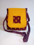Cotton Sling Bag Yellow And Maroon