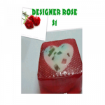 Homemade Designer Rose Soap 120 g..