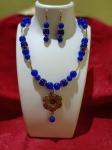 Necklace Opaque Beads Bule Colour Beats Mala....