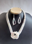 Artificial White Colour Beads Necklace.