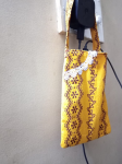 Single Mobile Charger Hanging Pouch Yellow