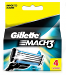Gillette Mach 3 Cartridge  (Pack of 4)