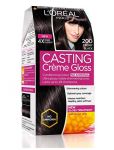L'Oreal Paris Casting Creme Gloss, Ebony Black 200, 87.5g+72ml