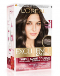 L'Oreal Paris Excellence Creme Hair Color, 3 Natural Darkest Brown