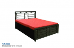 Double Bed With Storage K.B. 1114