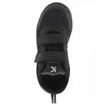 SKUDO KazarMax Boy's & Girl's Velcro Black School Shoes SKUDOS1 Size- 29.