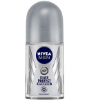 NIVEA MEN, Deodorant Roll-on, Silver Protect Antibacterial