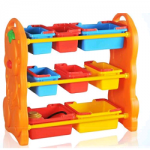 TOY SHELF WITH PLASTIC TRAY
